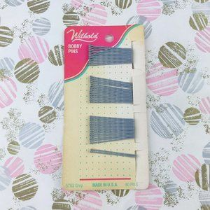 VINTAGE Gray WIL-HOLD RUBBER-TIP SMALL BOBBY PINS
